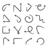 Flechas drenadas mano fijadas EPS 10 ilustración del vector