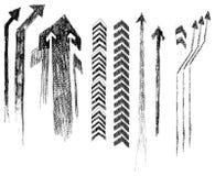 Flechas en grunge del estilo. (vector) Foto de archivo