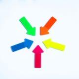 Flechas en los colores de neón Imagen de archivo