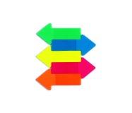 Flechas en los colores de neón Fotografía de archivo