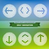 Flechas en pelota de golf Imagen de archivo