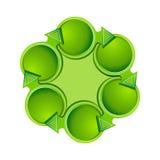 Flechas en un círculo Fotografía de archivo libre de regalías