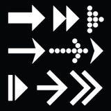 Flechas fijadas en negro Fotografía de archivo libre de regalías