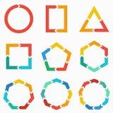 Flechas geométricas de las formas para infographic Foto de archivo libre de regalías