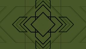 Flechas geométricas de pulsación del fondo abstracto almacen de video