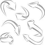 Flechas incompletas abstractas 3D incompletas. conjunto Fotografía de archivo