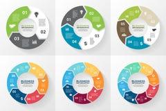 Flechas infographic, diagrama, opciones del círculo libre illustration