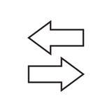 Flechas izquierdas y derechas Fotografía de archivo libre de regalías