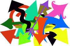 Flechas locas Imagen de archivo