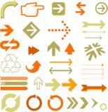 Flechas múltiples Imágenes de archivo libres de regalías