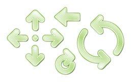 Flechas manchadas verde libre illustration