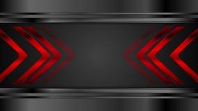 Flechas metálicas rojas en fondo negro