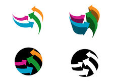 Flechas modernas de las insignias Foto de archivo libre de regalías