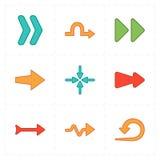 Flechas modernas planas Foto de archivo libre de regalías