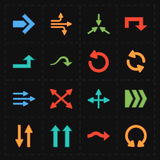 Flechas modernas planas Imagen de archivo libre de regalías