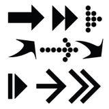 Flechas negras Imagen de archivo libre de regalías