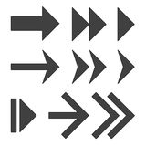 Flechas negras fijadas Imagen de archivo