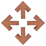 Flechas oxidadas imágenes de archivo libres de regalías