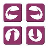 Flechas púrpuras Imágenes de archivo libres de regalías
