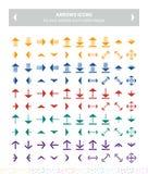 Flechas planas coloridas Imagen de archivo