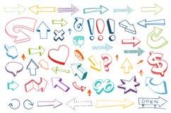 Flechas que dibujan el sistema Fotografía de archivo