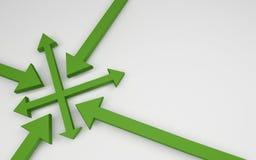 Flechas que muestran oportunidades ilustración del vector