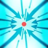 Flechas que señalan a una punta Foto de archivo libre de regalías