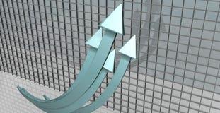 Flechas que suben Foto de archivo libre de regalías