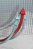 Flechas que suben Imagenes de archivo