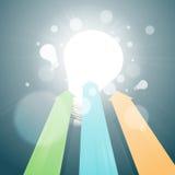 Flechas que van para las nuevas ideas Imágenes de archivo libres de regalías