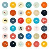 Flechas retras fijadas en círculos Imagen de archivo libre de regalías