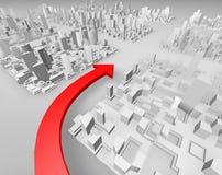 Flechas rojas Imagen de archivo libre de regalías