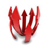 Flechas rojas Fotos de archivo libres de regalías