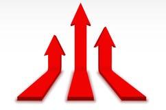 Flechas rojas Foto de archivo libre de regalías