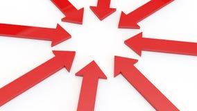 Flechas rojas Imágenes de archivo libres de regalías