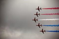 Flechas rojas 3 de Airshow Imagen de archivo