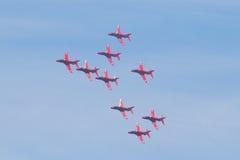 Flechas rojas en País de Gales Airshow nacional 2017 Fotos de archivo