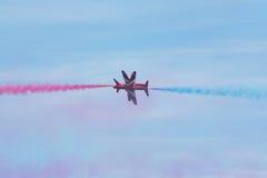 Flechas rojas en País de Gales Airshow nacional 2017 Foto de archivo