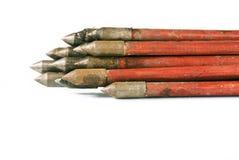 Flechas rojas medievales Imagenes de archivo