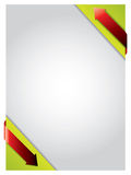 Flechas rojas que se encrespan sobre el papel afilado verde libre illustration