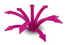 Flechas rosadas Imágenes de archivo libres de regalías
