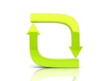 Flechas suaves verdes en ciclo ilustración del vector
