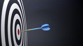 flechas típicas azules de un dardo Imagenes de archivo