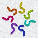 Flechas texturizadas de la papiroflexia Fotos de archivo