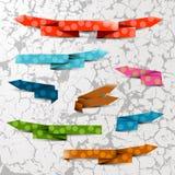 Flechas texturizadas del color Foto de archivo libre de regalías