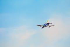 Flechas tricoloras de Frecce Tricolori en Pisa Airshow, CACEROLA acrobática nacional italiana fotos de archivo