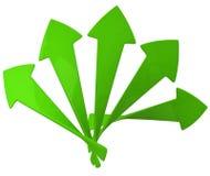 Flechas verdes 3d Fotos de archivo