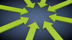 Flechas verdes Foto de archivo libre de regalías