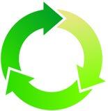 Flechas verdes Fotos de archivo libres de regalías