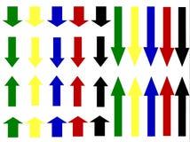 Flechas verticales Foto de archivo libre de regalías
